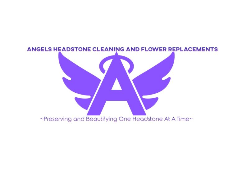 Angel's Headstone Cleaning and Flower Placements